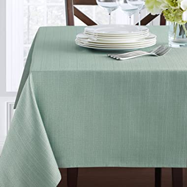 Benson Mills Textured Fabric Tablecloth (52  x 70  Rectangular, Topaz)