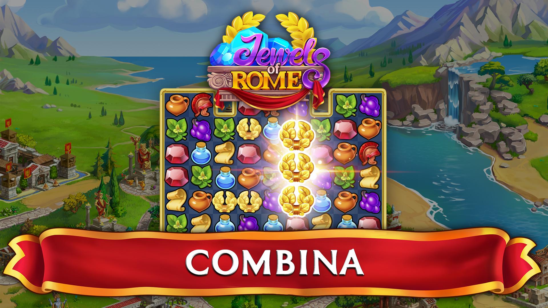 Jewels of Rome: Juego de combinar gemas: Amazon.es