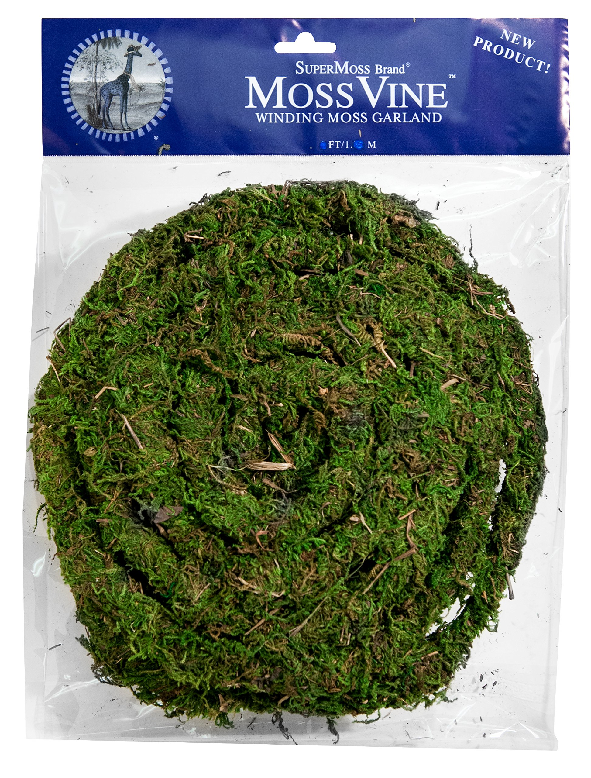 SuperMoss (22711) MossVine Garland, Fresh Green, 12ft