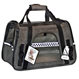 Critter Cabbie Soft Sided Pet Carrier- Travel Tote Airline Approved PET Carrier with Fleece Bedding