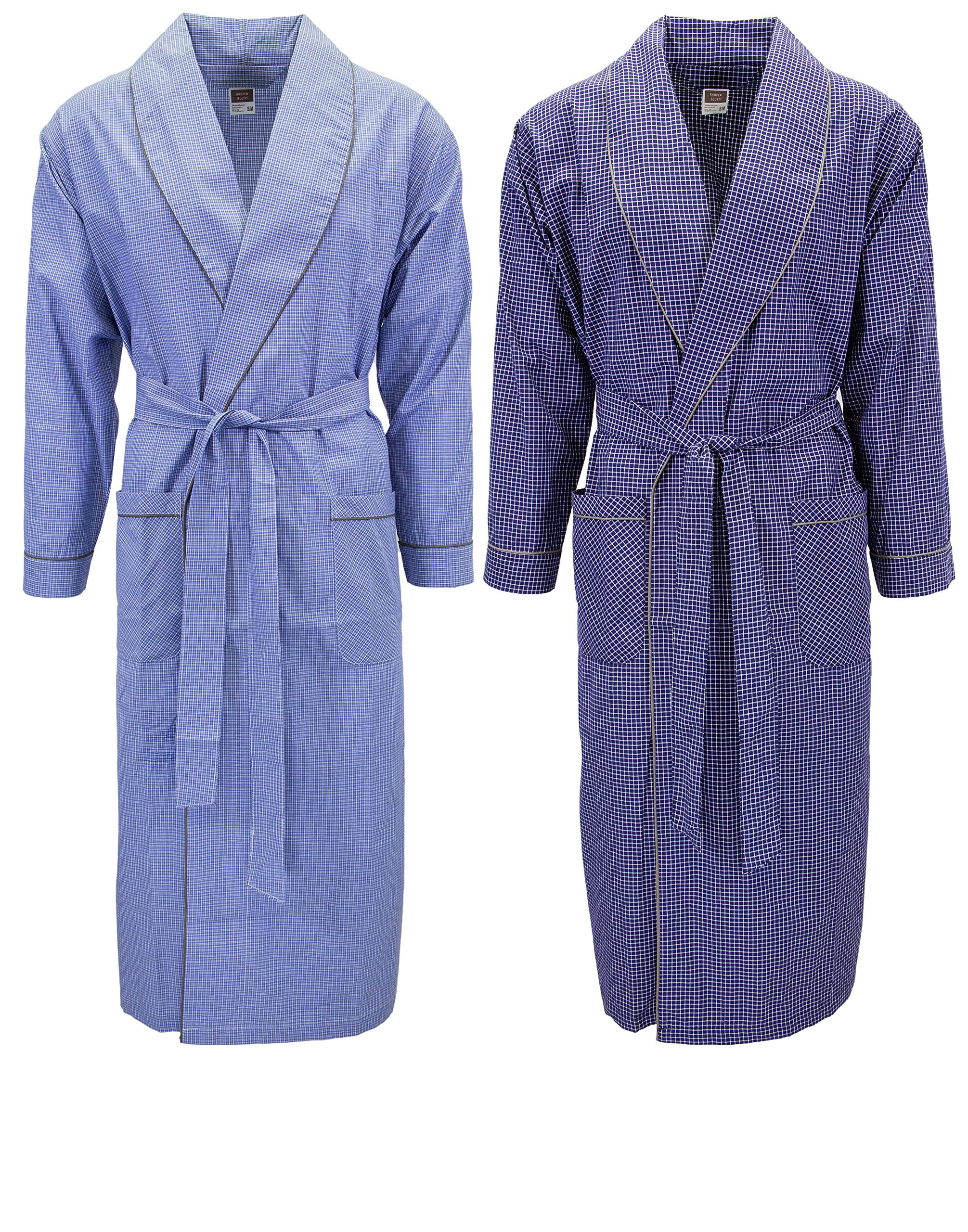 e1074ba012 Mens 2 Pack Long Sleep Robe