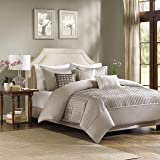Madison Park Trinity 6 Piece Duvet Cover Set, King/California King, Taupe