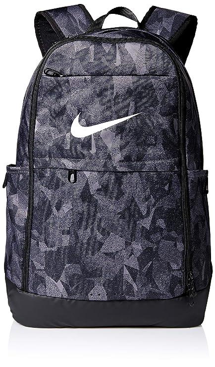 6a12f2fad NIKE unisex-adult Brasilia XL Backpack - All Over Print 2, Gunsmoke/Black