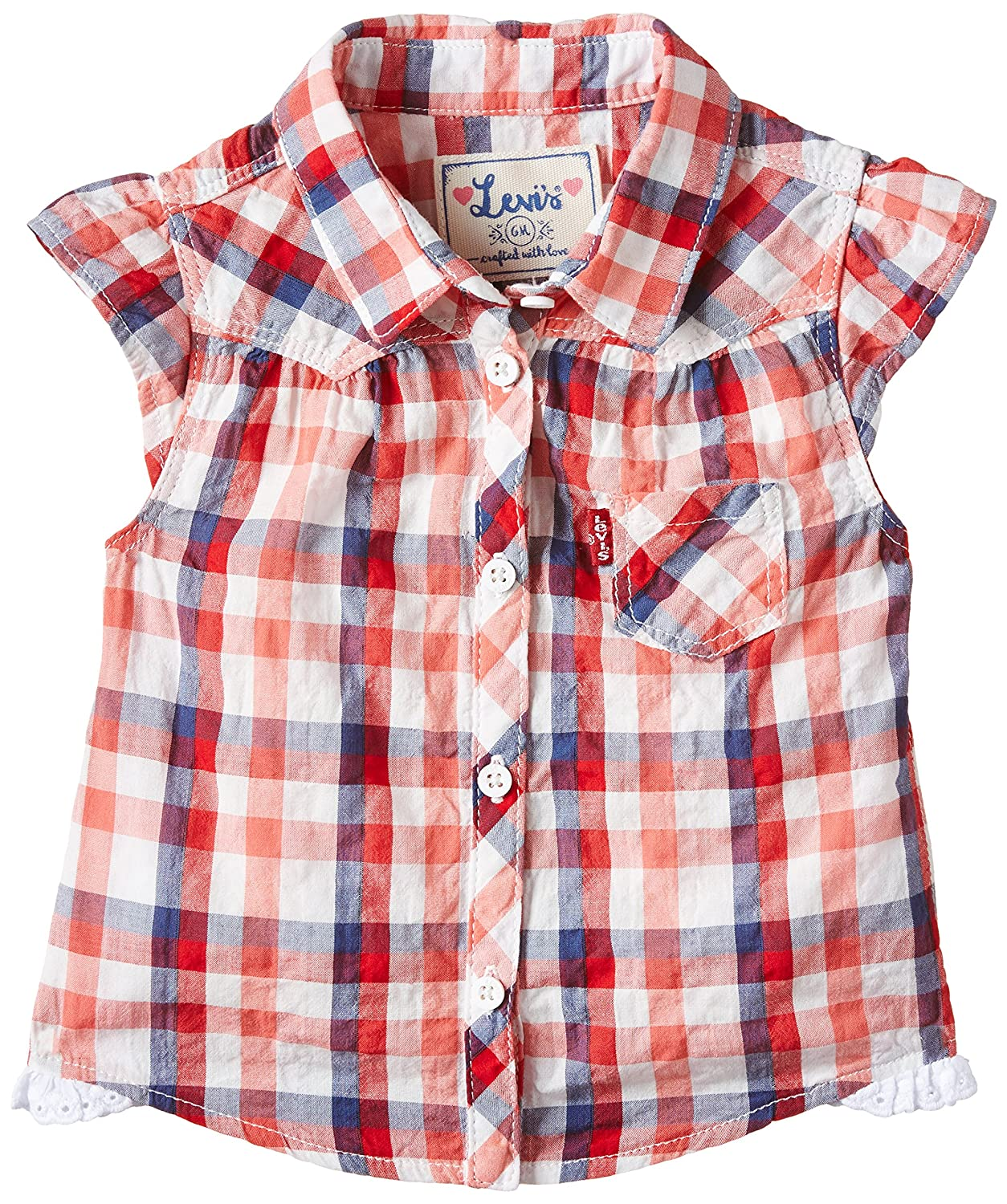 Levi's Kids Baby Girls Levi's® Shirt Blouse (Red 03) 3-6 (Size: 6 Months) Groupe Zannier International NF12504