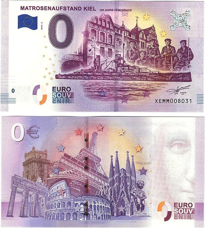 0 Euro faros Marinière – Rebelión Kiel – Cientos Años democracia 2018 – nulo Euro Souvenier Banco Ordenador con diferentes monumentos de: Amazon.es: Juguetes y juegos