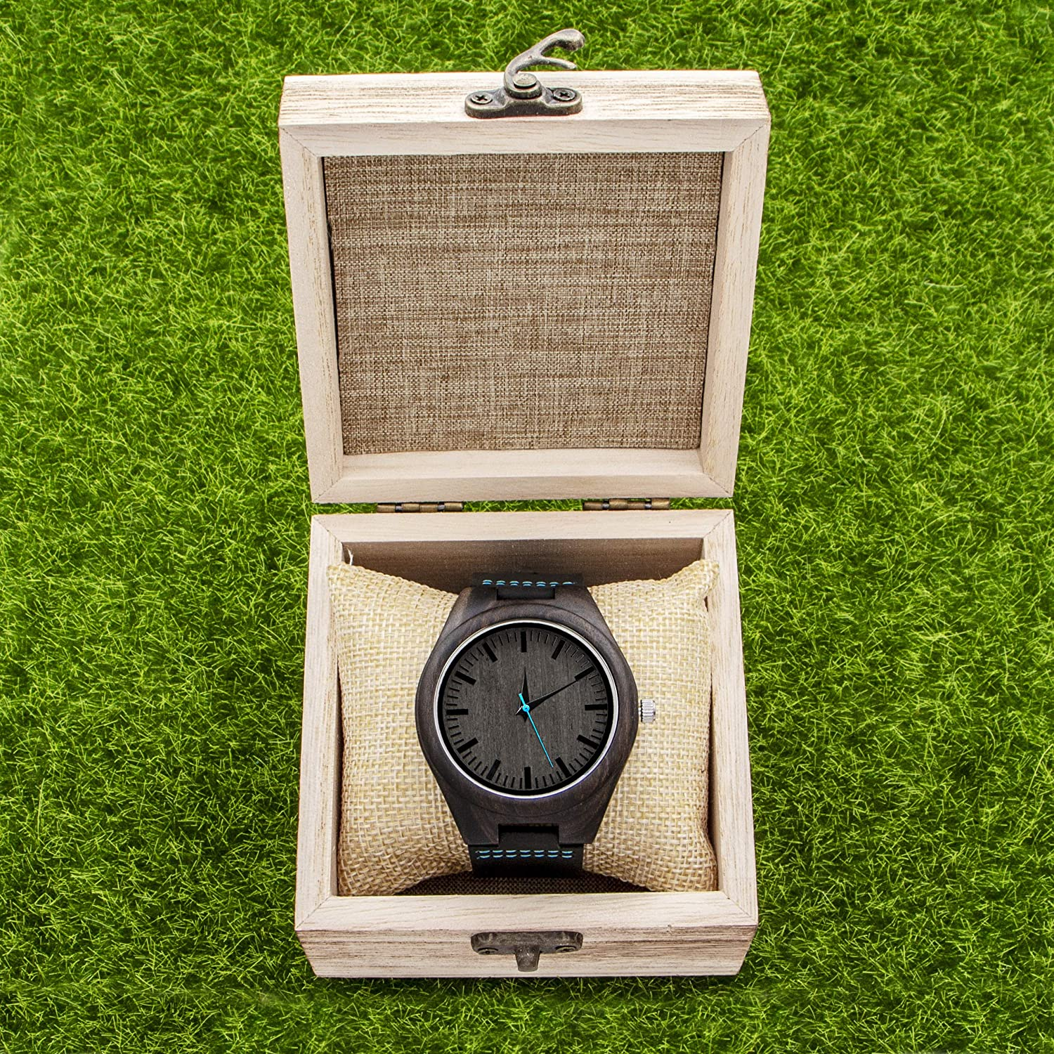 Amazon.com: Engraved Wooden Watches Personalized Gifts for Son, Father,Lovers Birthday,Anniversary Day,Groomsman Gift,with Wood Box (Blue-for Son): Kenon: ...