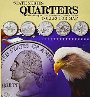 Amazoncom State Quarter Map Us State Quarter Collection Toys