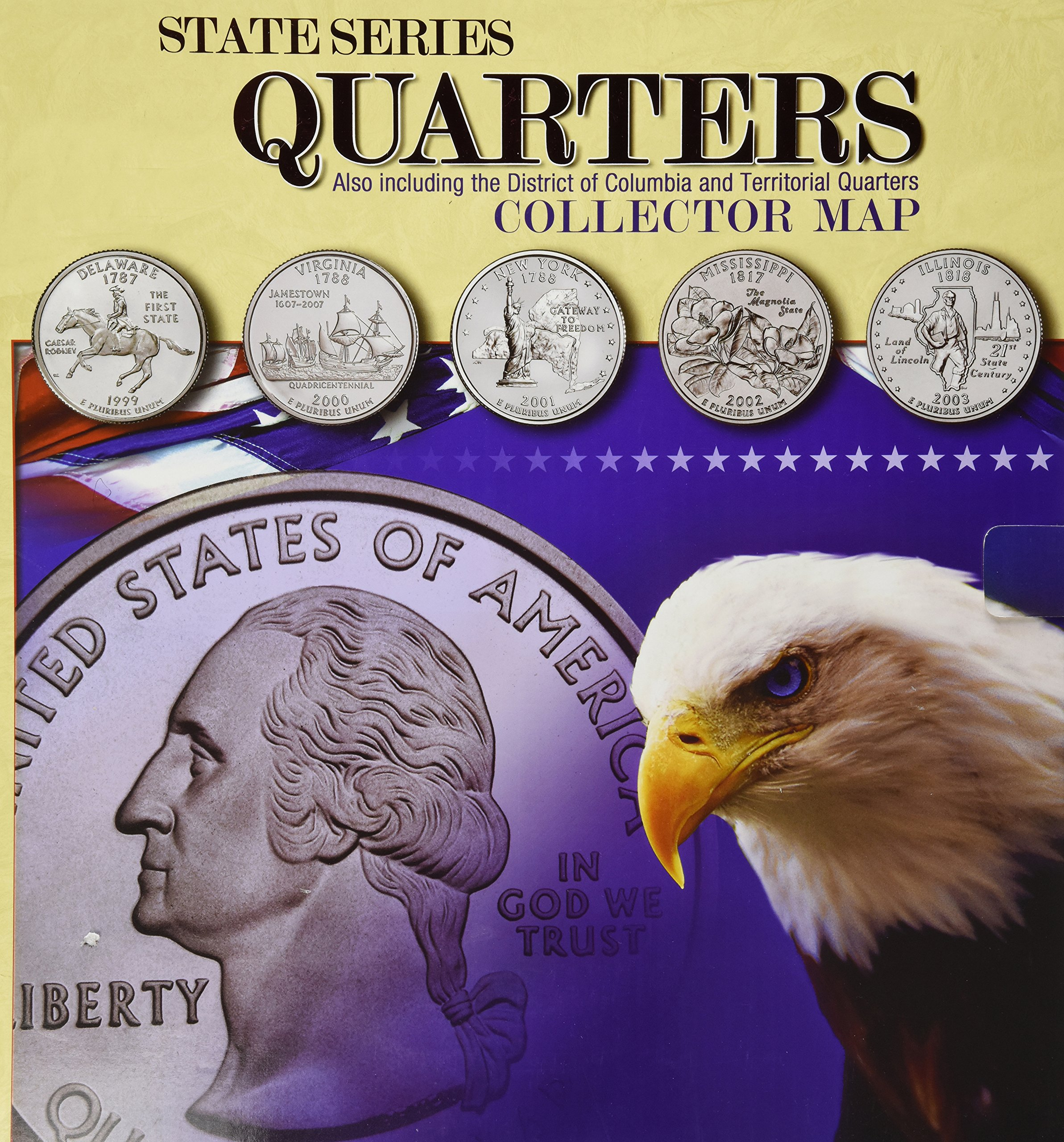 Amazon.com: State Series Quarters Collector Map: Also Including the on