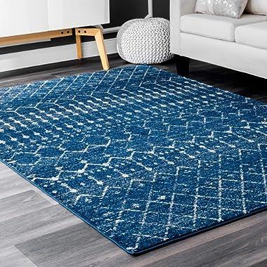 nuLOOM Moroccan Blythe Area Rug, 6' 7  x 9', Blue