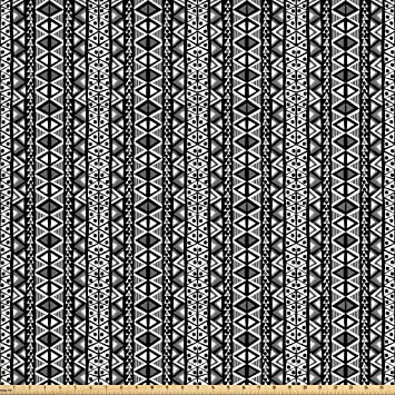 Amazon Com Ambesonne Retro Fabric By The Yard Ethnic Boho Aztec