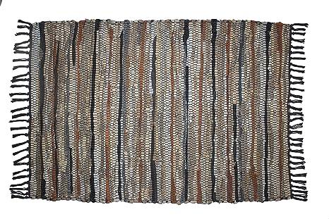 Amazon.com: Cotton Craft - Alfombra de piel de chindi ...