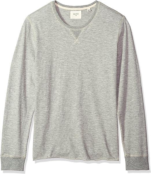 Billy Reid Mens Long Sleeve Quilted Crew Neck Sweatshirt