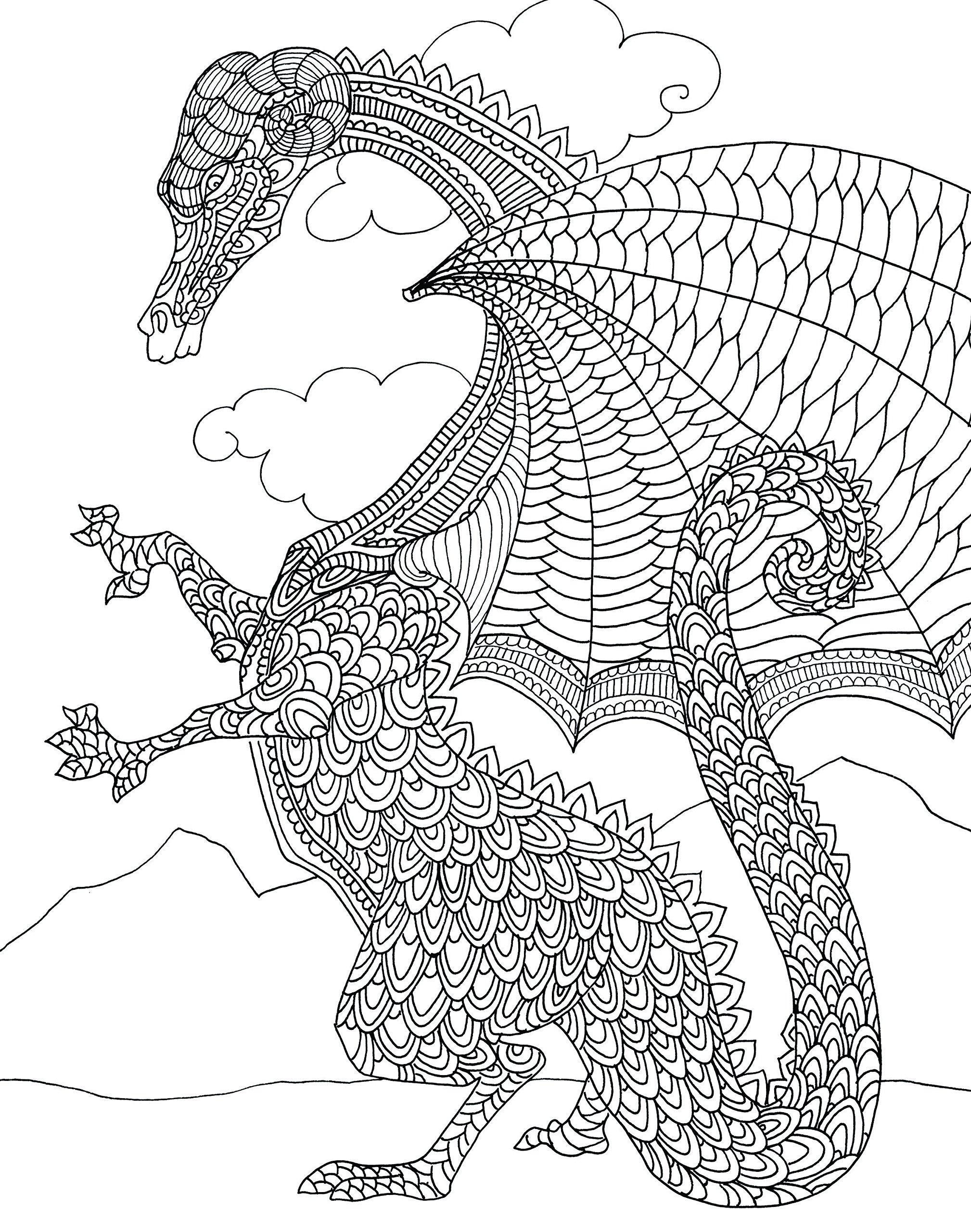 Amazon Zendoodle Coloring Majestic Dragons Deluxe Edition With Pencils 9781250126733 Antonia Cardella Books