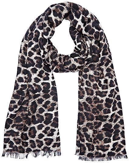 Guess Devyn, Echarpe Femme, Multicolore (Leopard), Taille Unique ... 852f04279ad