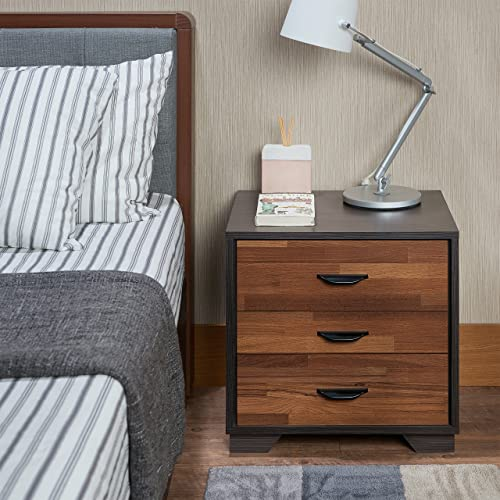 ComfortScape Contemporary 3 Drawer Bedroom Night Stand