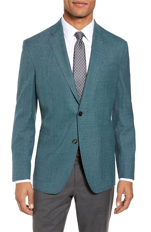 [テッドベーカー] メンズ ジャケットブルゾン Ted Baker London Kyle Trim Fit Wool Blaz [並行輸入品] B07DVZDSJ8 38_R