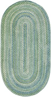 product image for Waterway 0470VS200 8'x11' Oval Green Braided Area Rug