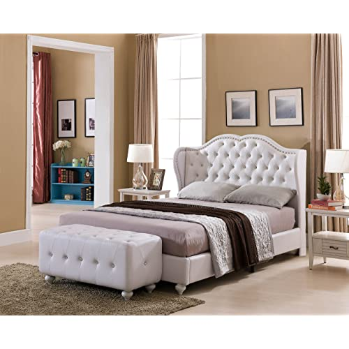 White King Tufted Bed Frame Amazon Com