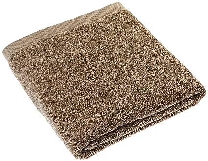 Lasa Home – Toalla de baño, algodón, castaño, 100 x 150 x 1