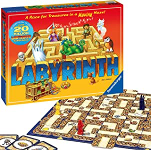 Ravensburger Labyrinth Family Board Game for Kids and Adults Age 7 and Up - Millions Sold, Easy to Learn and Play with Great Replay Value (26448)