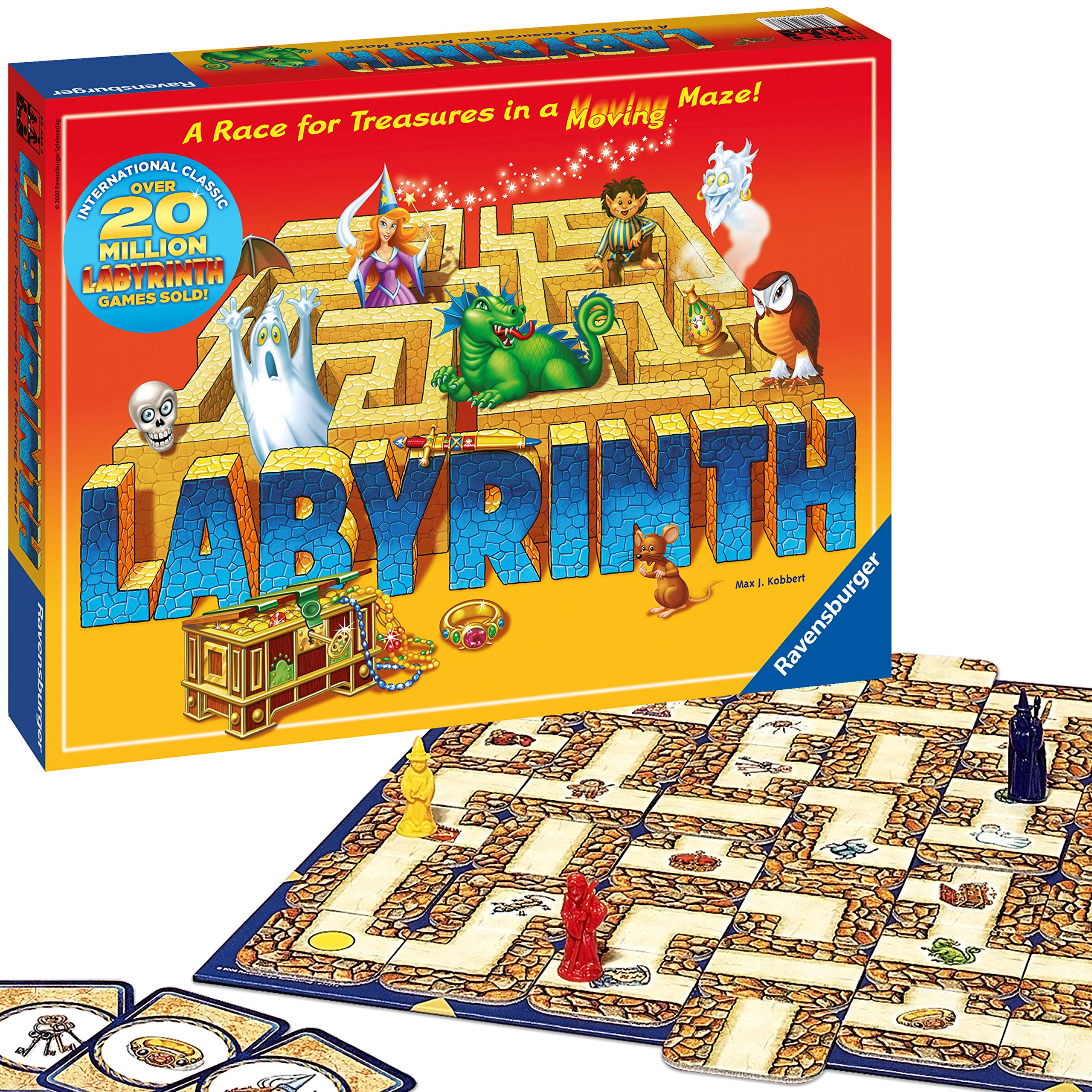 Ravensburger Labyrinth - Moving Maze Family Board Game for Kids and Adults Age 7 and Up