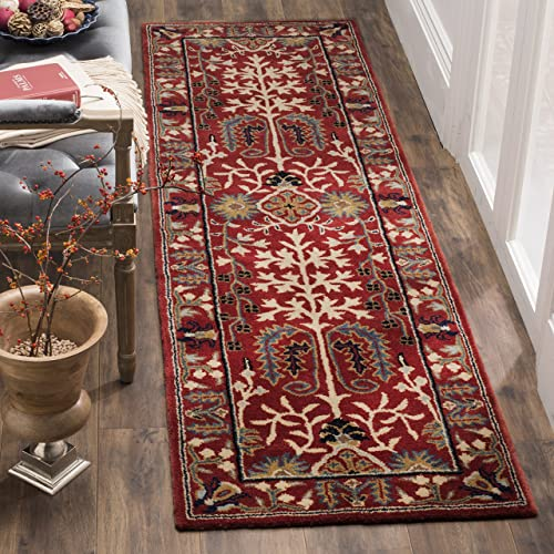 Safavieh Antiquities Collection AT64A Handmade Traditional Red and Multi Area Rug 2' x 3'