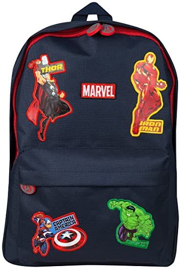 74647b2a Marvel Avengers Official School Bag for Boys Girls Adults Travel Rucksack  Kids Backpack Captain America Thor Iron Man Hulk: Amazon.co.uk: Luggage