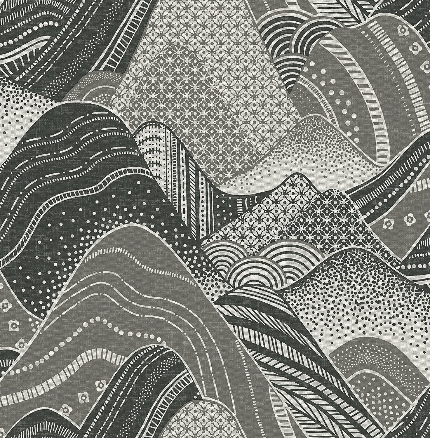 A Street Prints 2764 24331 Meru Dark Grey Mountain Wallpaper
