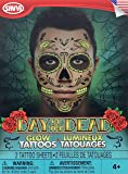 Day Of The Dead Glow In The Dark Sugar Skull Face Tattoo Kit For Men Or Women
