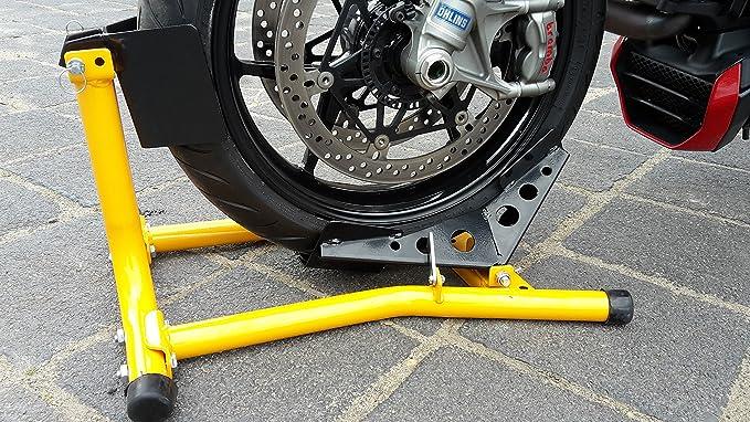 Motorrad Montageständer Motorradwippe Vorne Motorradständer Wippe Transportständer Vorderrad Auto