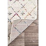 nuLOOM Premium Snowflake Non-Slip Grip Area Rug, 3' x 5', Grey
