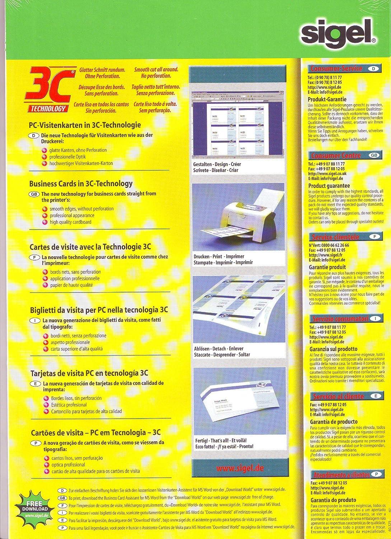 Sigel Imprimer Vos Propres Cartes Dp844