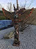 Kenai - Deko Totempfahl 100 cm, Wappenpfahl, Marterpfahl,totem pole,totem stake