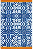 Fab Habitat Reversible Rugs | Indoor or Outdoor Use | Stain Resistant, Easy to Clean Weather Resistant Floor Mats…