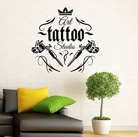Wall Decor Vinyl Sticker Mural Poster Tattoo Parlor Gun Machine Ink Salon SA1140