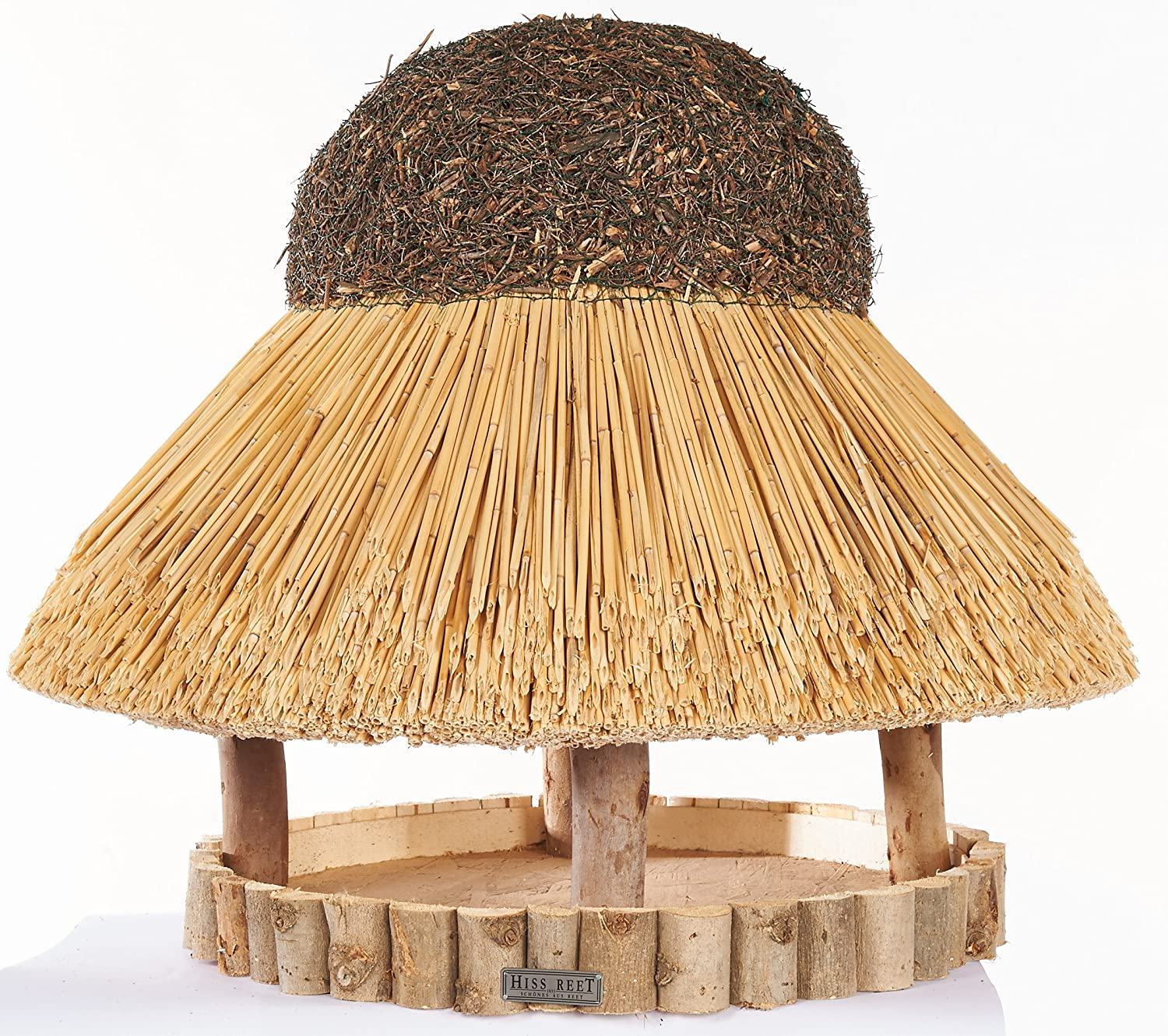 Hiss Reet Bird House with Traditional Reed Roof, 74 cm-