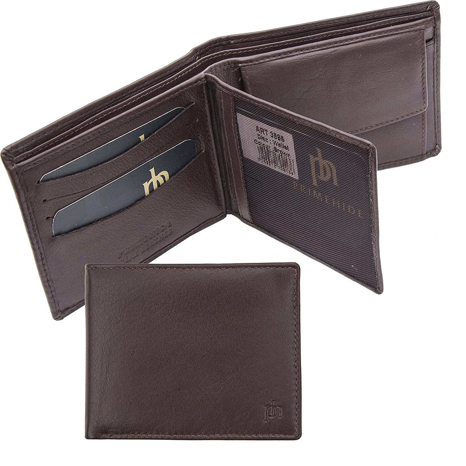 Prime Hide Mens Soft Brown Leather Wallet with Coin Purse - 03898