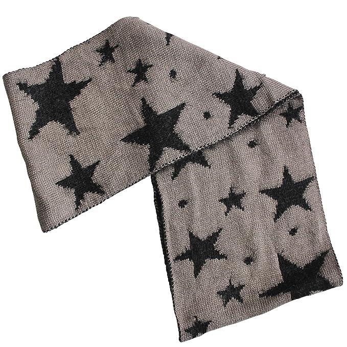 FERETI Souple écharpe Avec étoiles Noir Etole Tube Circulaire Foulard  Tricot Ronde Snood  Amazon.fr  Vêtements et accessoires c9e548c25af
