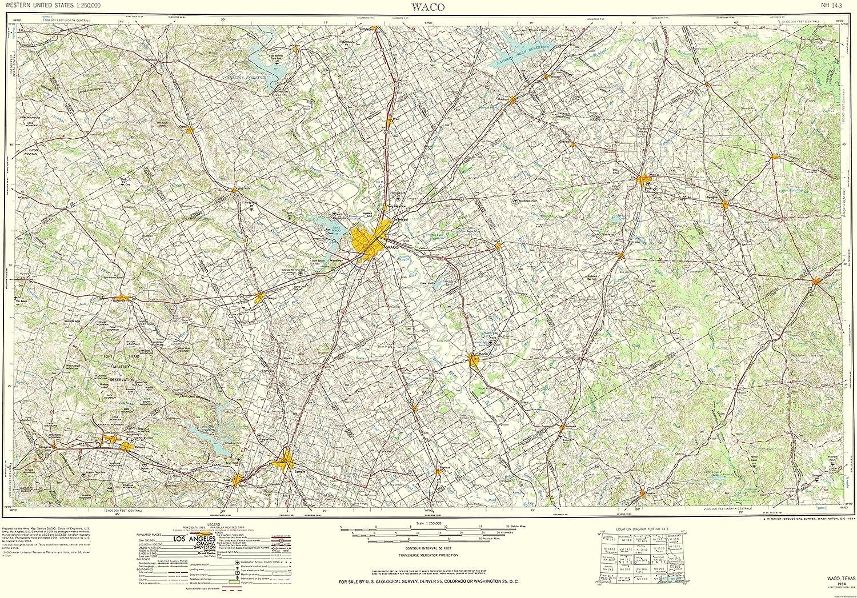 Amazon Com Maps Of The Past Waco Texas Quad Usgs 1964 23 X