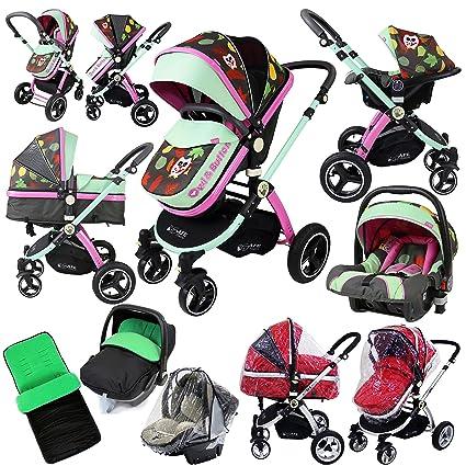 iSafe sistema de búho y botón Trio sistema de viaje Cochecito de bebé y silla de