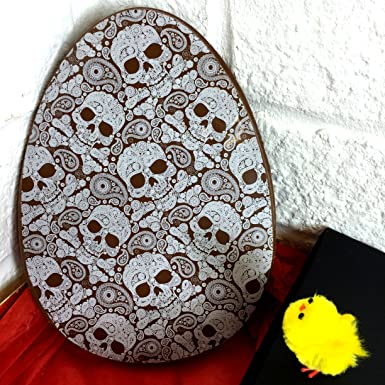 Large flat milk chocolate easter egg with skull print chocolate large flat milk chocolate easter egg with skull print chocolate easter gift 230g negle Images