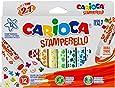 Carioca feutre tampon Superwashable 12 pièces (= 12 couleurs et 12 motifs de tampon) Lot de 1Unité(s)