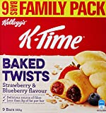 Kellogg's K-Time Baked Twists Strawberry & Blueberry - 9 Pack, 9 x 333 g