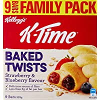Kellogg's K-Time Baked Twists Strawberry & Blueberry - 9 Pack, 9 x 37 g