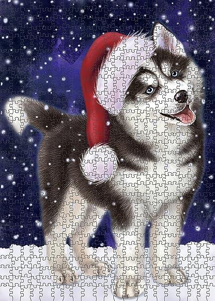 Amazon Com Let It Snow Happy Holidays Siberian Husky Dog Christmas
