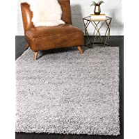 Deals on Unique Loom Solo Solid Shag Modern Plush Area Rug 5 x 8-ft