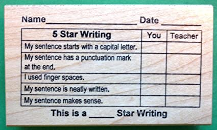 5-Star Writing Grid Teachers Rubber Stamp