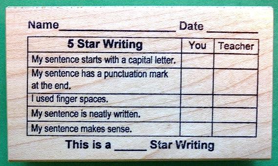 Amazon.com: 5 estrellas escritura rejilla, Teacher s sello ...