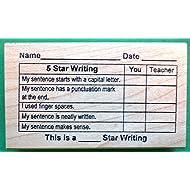 5-Star Writing Grid, Teacher's Rubber Stamp