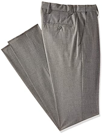 750328384 Peter England Men s Slim Fit Formal Trousers  (PTF5170343392 MediumgreySolid 36W x ...
